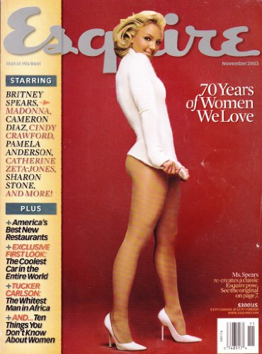 Esquire, 70 Years of Women We Love, Britney Spears, November 2003