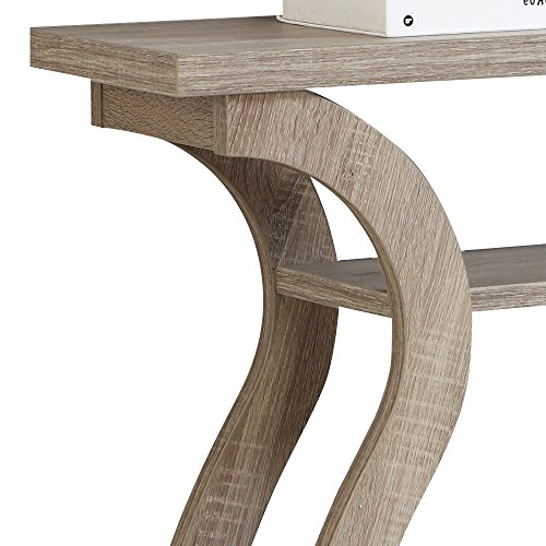 """Monarch Specialties I 2446, Hall Console, Accent Table, Dark Taupe, 47""""L"""