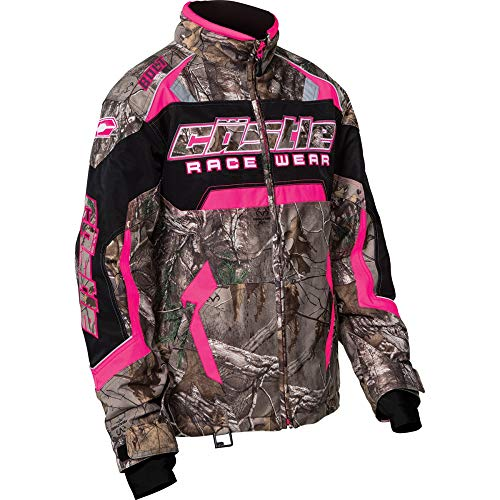 Castle X Racewear Bolt Realtree G3/G4 Youth Girls Snowmobile Jacket Realtree Xtra® Hot Pink SM