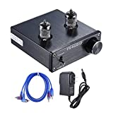 ammoon Mini HiFi 6J1 Vacuum Tube Stereo Audio Pre-amplifier Buffer Preamp Aluminum Alloy with RCA Cable Power Adapter