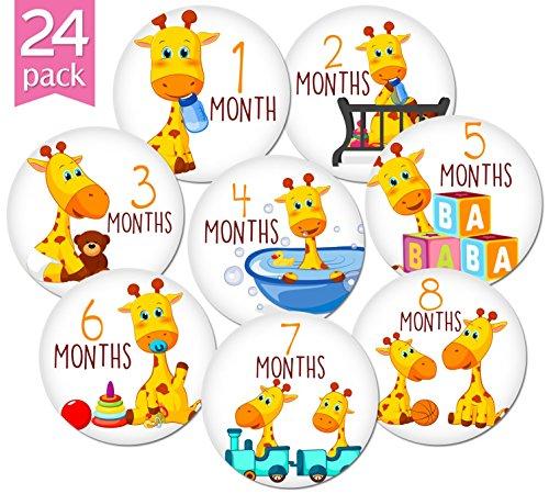 Buy Kiddosart Babys Happy Lilly The Giraffe Month Sticker 4 Inch
