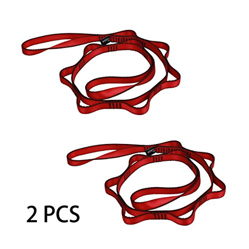- Geelife Daisy Chain Rope 2 pcs Looped Strong Straps 23 kN Climbing Nylon Daisy Chains Lanyard 53 Inches