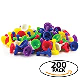 200 Pack Game Pawns Great for Teachers Creative Learning Board Games and More 6 Assorted Colours – About 32 of Each Colour