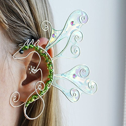Elegant Ear Wrap Dragon Rhaegal Jewelry Earrings Game of Thrones Ear Cuffs Dragon, Jewelry Designers, Cosplay Jewelry Tamed Dragon Fairy-tale (Game Of Thrones Costumes Designer)