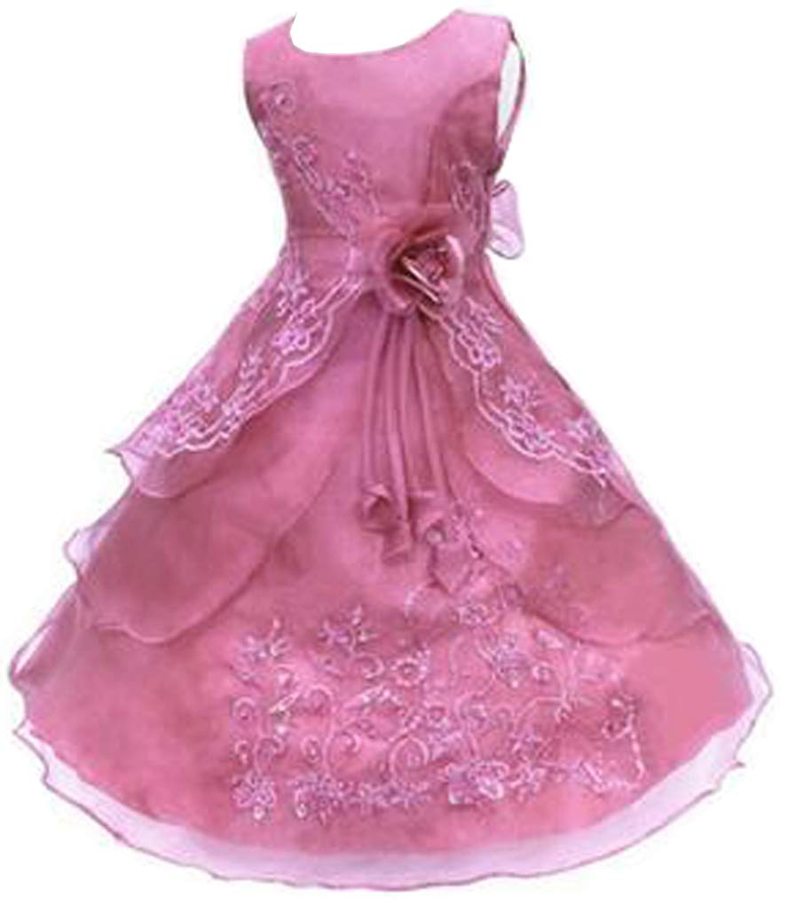 f0c9492736e8 Galleon - Shiny Toddler Little Girls Embroidered Beaded Flower Girl  Birthday Party Dress With Petticoat 2t-3t