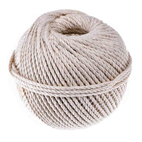 - 3 Strand Cable Cotton Twine (1.5 MM x 200 Feet) - Mason Line, Chalk Line, Seine Twine - Hold Knots Securely