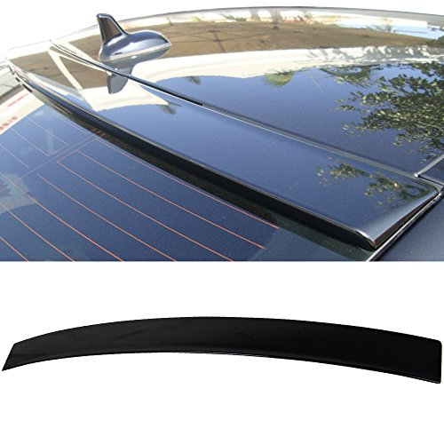 Pre-painted Roof Spoiler Fits 2012-2015 Mercedes-Benz C-Class 2 Door Coupe | OE Style Painted #197 Obsidian Black Metallic ABS Rear Tail Lip Deck Boot Wing Other Color Available by IKON MOTORSPORTS