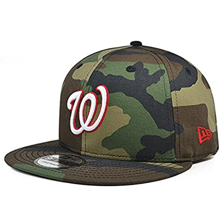 09a38764d Amazon.com   Washington Nationals New Era MLB Woodland Camo 9Fifty Snapback  Adjustable Hat   Sports   Outdoors