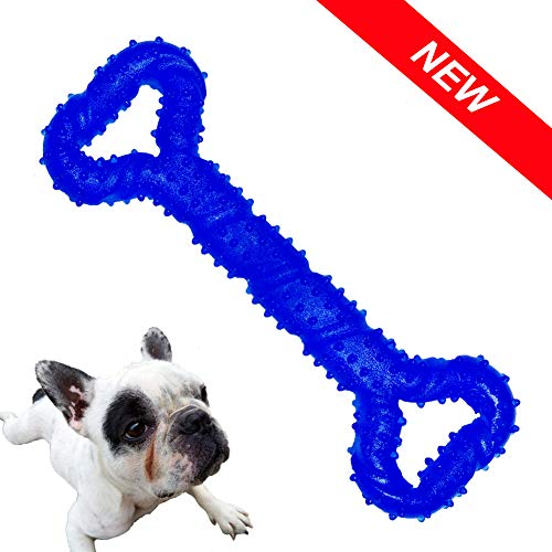 Durable Dog Chew Toys, Dog Toys for Small Medium and Large Dog, Toys for Aggressive Chewers Tough Rubber Bone Shape Toy, Bump Perfect for Teething Training and Keep Fit