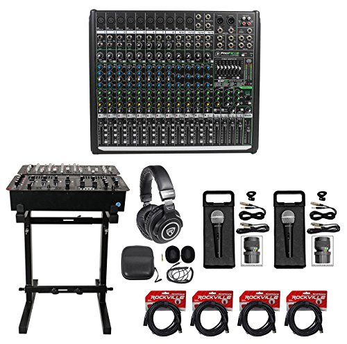 Mackie PROFX16v2 Pro 16 Channel 4 Bus Mixer w Effects and USB PROFX16 V2+Stand by Mackie