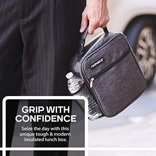 Tough /& Spacious Adult Lunchbox to Seize Your Day MAZFORCE Original Lunch Box Insulated Lunch Bag Force Black - Lunch Bags Designed in California for Men, Adults, Women