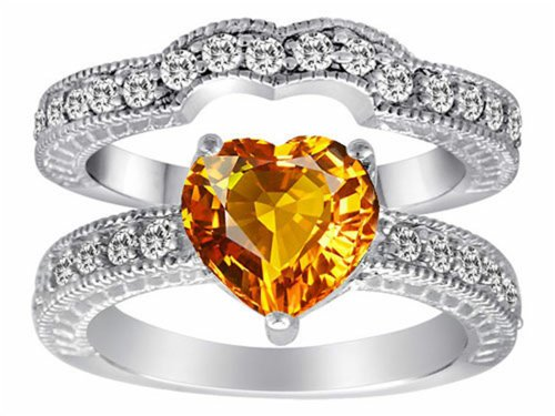 Shape Citrine Wedding Set - 4