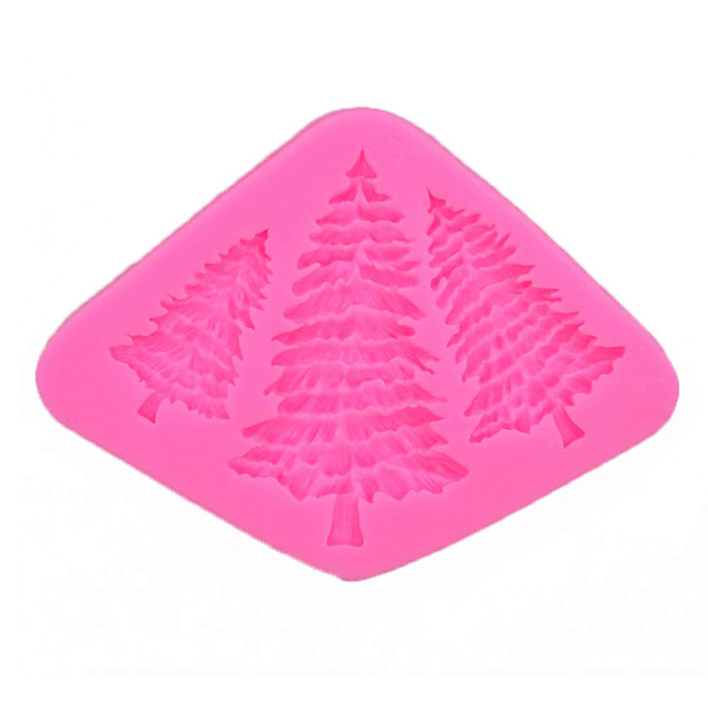 Christmas Tree Silicone Mould - Pastry Bakeware Baking Tool DIY Decoration Accessories Cake Mould for Holiday Cakes, Candies, Chocolates, Jelly, Soap by UKSAT
