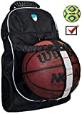 Hard Work Sports Basketball Backpack - Soccer Backpack with Ball Compartment - Perfect Sports Backpack