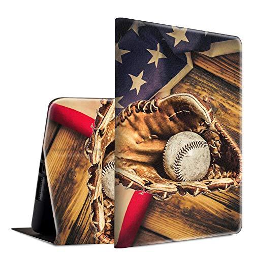 iPad 9.7 2018/2017 Case, iPad Air 2, iPad Air Case, Spsun Lightweight PU Leather Folio Adjustable Stand with Auto Wake/Sleep Smart Case for Apple ipad 6th/5th Gen - American Flag Baseball