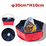 Round Heavy Duty Portable Durable Dog Cat Bath Swimming Pool Outdoor Indoor Pet Supplies Bathing Tub Conditioners for Dogs Cats and Kids