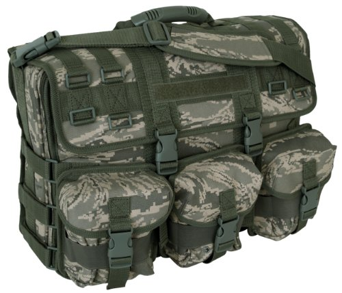 Code Alpha Computer Messenger Bag with Molle Pouches, Digital Camouflage by Code Alpha