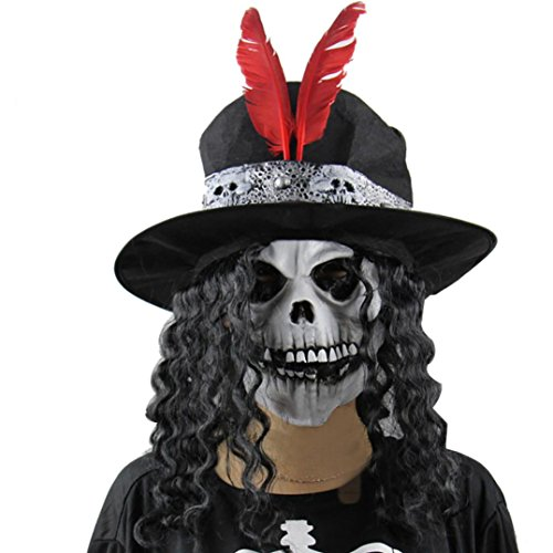 [Luweki Halloween Party Mask Cosplay Mask Terror Witch Mask Head Mask] (Funny Bones Skeleton Costume)