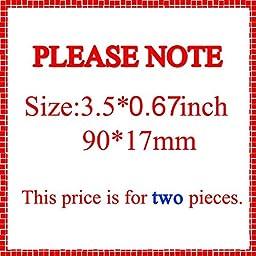 (Set of 2) Slant SS Grill Side Fender Trunk Emblem Badge Decal with Sticker for Chevy IMPALA COBALT Camaro 2010 2011 2012 2013 2014 2015 2016 2017 [Light Orange letter with chrome outline]