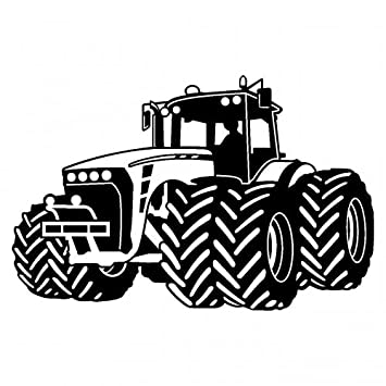 Wandtattoo Trecker Traktor Kinderzimmer Spielzimmer In 9 Grossen Und 19 Farben 150x95cm Schwarz