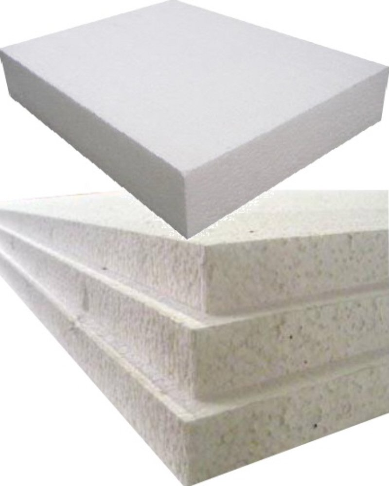 6 Large White Rigid Polystyrene Foam Sheets Boards Slabs 8ft x 4ft EPS70 SDN Floor Wall Insulation Sheeting Packing Void Loose Fill Filler Protective Packaging Size 2400mm Long x 1200mm Wide x 50mm Thick