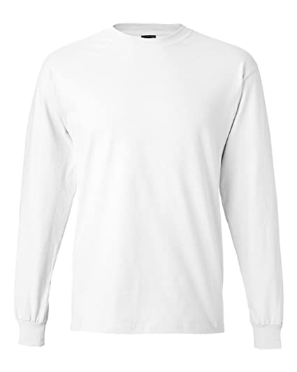 efaaa31e6b2b72 Hanes Long Sleeve Beefy T-Shirt - 5186 | Amazon.com