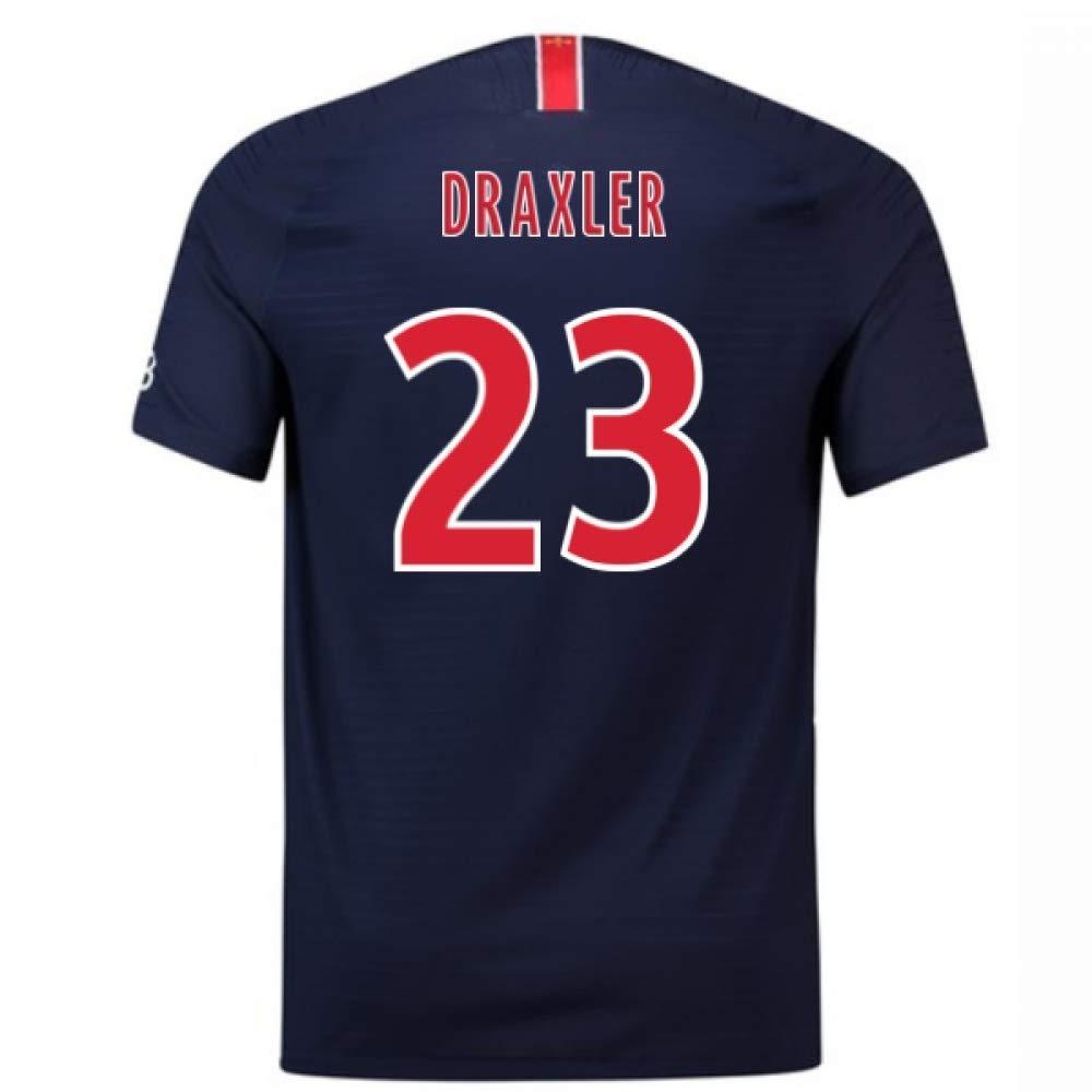 【即納】 2018-2019 23) PSG Authentic Vapor Match Home Navy Nike Shirt (Julian Match Draxler 23) B07H9R9149 Large 42-44