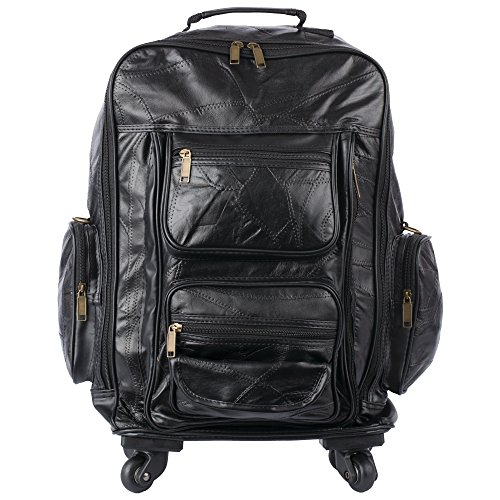 Embassy Genuine Patch Leather Trolley Bag-Backpack