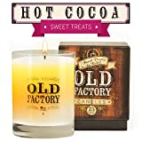 Scented Candles - Hot Cocoa - Decorative Aromatherapy - 11-Ounce Soy Candle - from Old Factory Candles