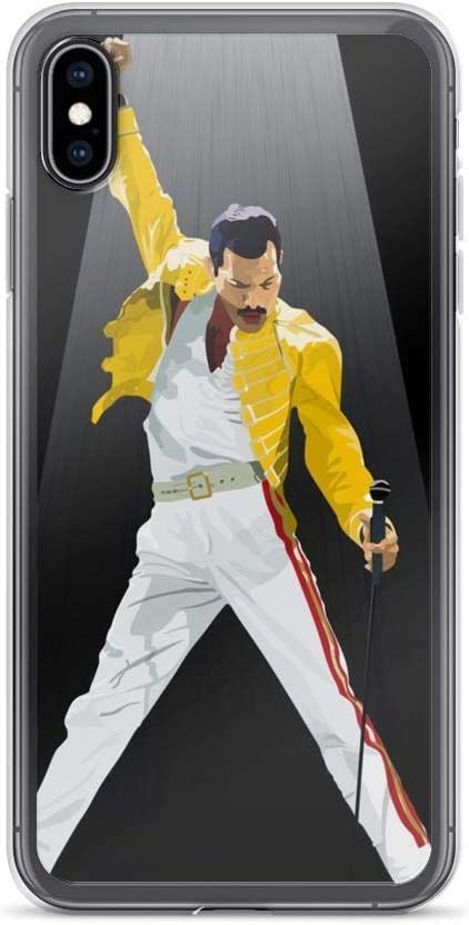 Compatible with iPhone 7 Plus/8 Plus Case Freddie Mercury Queen Rock Music Fan Pure Clear Phone Cases Cover