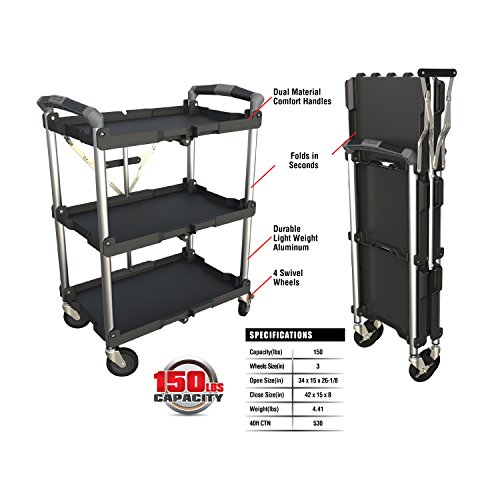- Olympia Tools 85-188 Collapsible Service Cart
