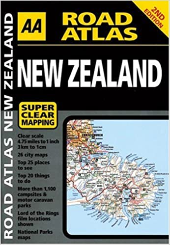 aa road atlas new zealand aa publishing 9780749545949 amazoncom books