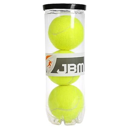 JBM Campeonato pelotas de tenis 3 bolas en una lata Ideal para tenis Práctica Formación lecciones