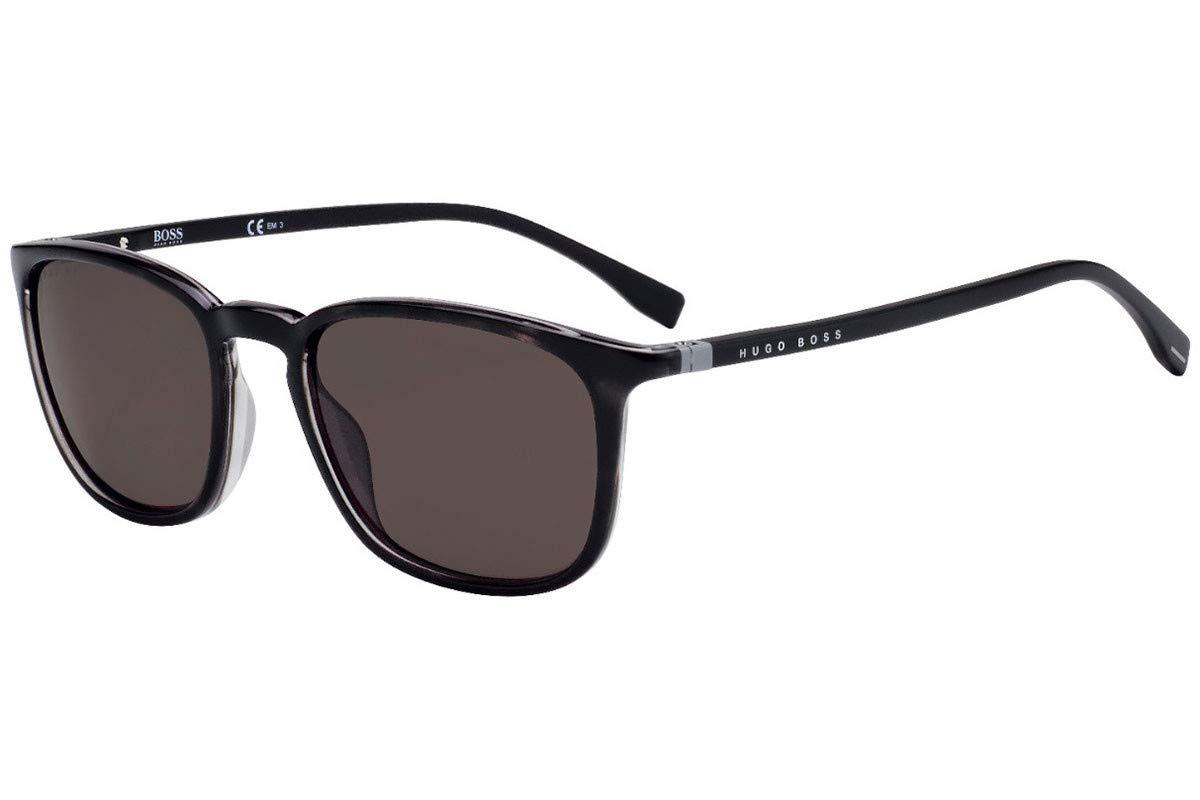 Hugo Boss 0960//S Sunglasses Grey Black Spotted w//Brown Lens 53mm ACI70 0960S