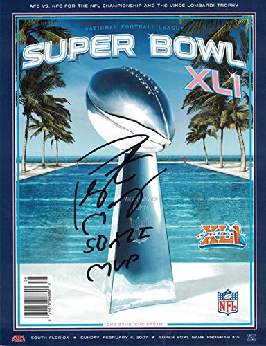 - Peyton Manning Autographed Signed Indianapolis Colts Super Bowl XLI Program SB XLI MVP - JSA Certified