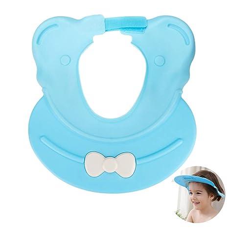 Gorro ni/ño ba/ño sombrero ZERHOK Gorro de ducha bebe champ/ú Hat shower para evitar aguas pasar a los ojos y orejas en ducha de animal hipop/ótamo de slicona suave para ni/ños lavar la cabeza
