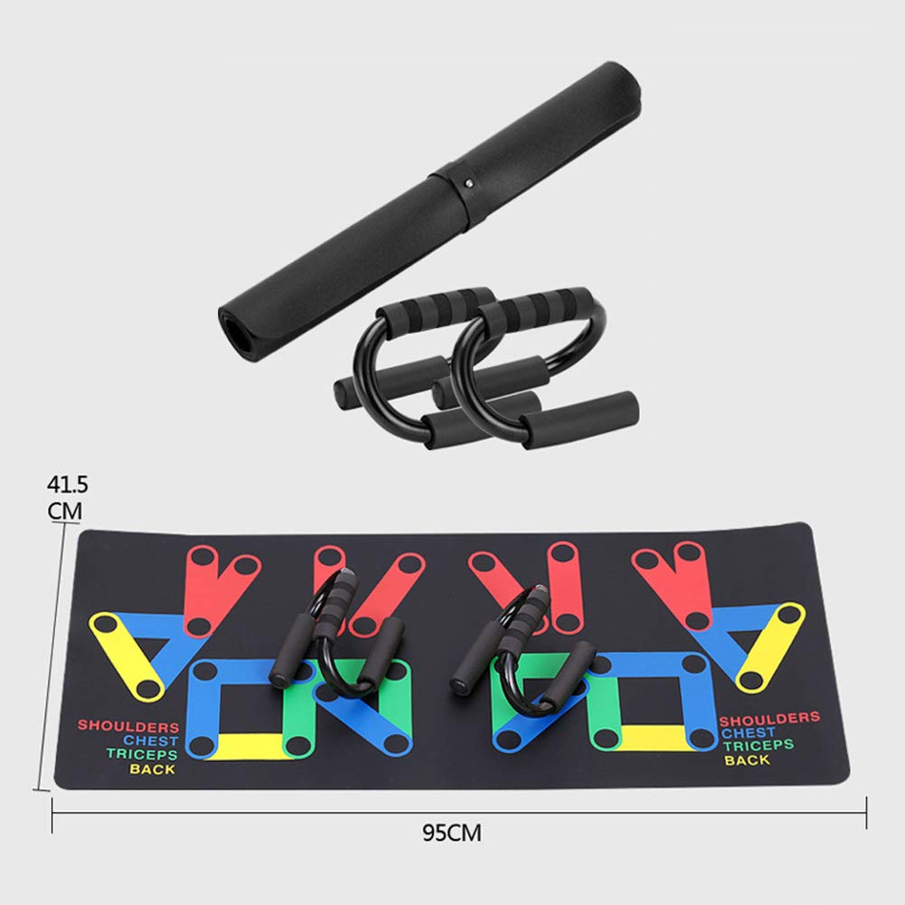 Keptfeet 9 in 1 Unisex the Multi-Position Push up Board Push Up Rack Board System Fitness Train Gym Exercise Stands