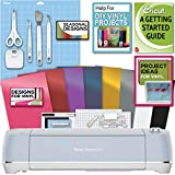 Cricut Explore Air 2Blue Machine Bundle - Beginner DigitalGuide, Tool Kit, Vinyl, Designs
