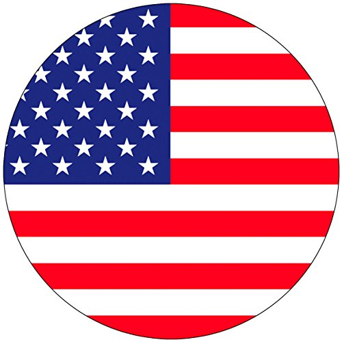 Chic 3 in 1 US Flag Jumbo Badge Button 3.75 Inches
