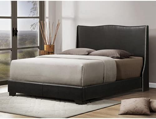890ced2b7996 Amazon.com  Baxton Studio Duncombe Modern Bed with Upholstered Headboard