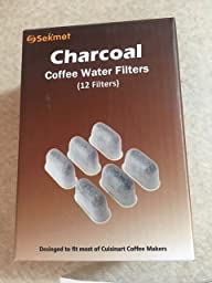 Cuisinart Coffee Maker Charcoal Water Filter : Amazon.com: Sekmet Replacement Charcoal Water Filters for Cuisinart Coffee Makers 6-Pack ...