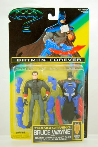 (Batman Forever - 1995 - Transforming Bruce Wayne Figure - Body Adaptive Techsuit - Kenner - Limited Edition - Mint -)