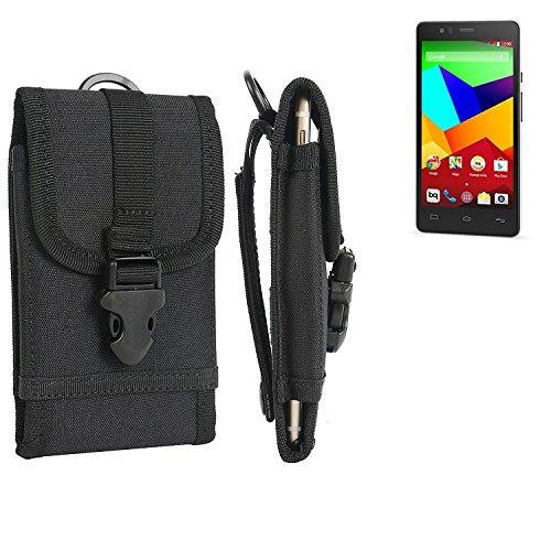 bolsa del cinturón / funda para BQ Aquaris E5 LTE, negro   caja del teléfono cubierta protectora bolso - K-S-Trade (TM)