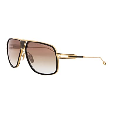 9a143bf594 Dita Grandmaster Five Sunglasses DRX 2077A Black 18K Gold   Dark Brown  Gradient  Amazon.co.uk  Clothing
