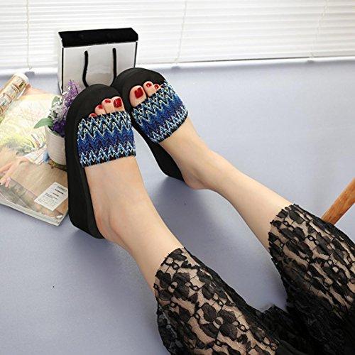 Pantofola Da Infradito Per Le Donne, Sandali Estivi Di Stile Nazionale Delle Donne Scarpe Da Spiaggia Allaperto Infradito Da Esterno A