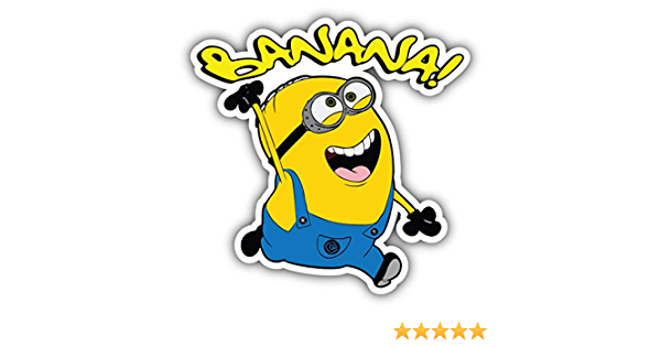 /'/'SIZES/'/' Minions Cartoon Surfing Sticker Bumper Decal