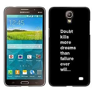 YiPhone /// Prima de resorte delgada de la cubierta del caso de Shell Armor - fracaso duda texto del mensaje inspirador - Samsung Galaxy Mega 2