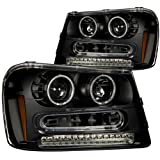 Anzo USA 111127 Chevrolet Trailblazer Black Projectors w/Halos Headlight Assembly - (Sold in Pairs)