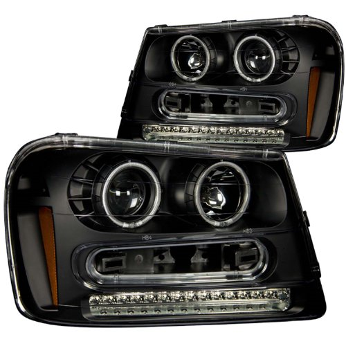 Anzo USA 111127 Chevrolet Trailblazer Black Projectors w/Halos Headlight Assembly - (Sold in ()