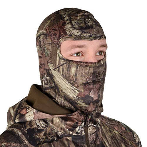Mossy Oak Hunting Accessories Stretch Form Full Face Mask (Break-Up, One Size)